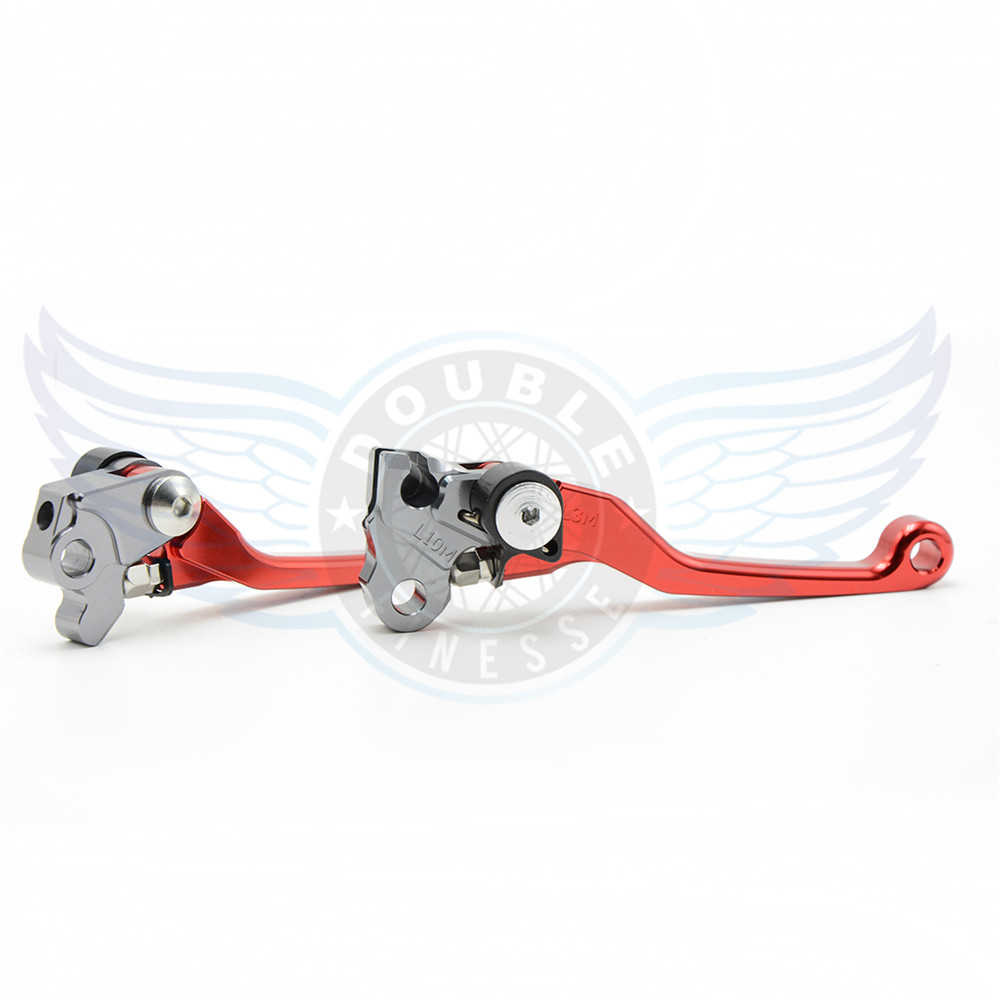 CNC motorcycle Pivot Brake Clutch Levers Dirt Bike Brake Clutch Lever red color For Honda CRF250R 2007 2008 2009 2010 2011<br>