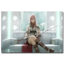 Lightning - Final Fantasy XIII Art Silk Fabric Poster Print 13x20 24x36 inch Hot Game Pictures for Living Room Wall Decor 032
