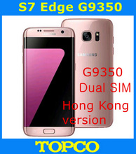 "Samsung Galaxy S7 Edge Dual G9350 Original Unlocked 4G LTE Android Mobile Phone Octa Core 5.5"" 12MP 2 SIM RAM 4GB ROM 32GB(China)"