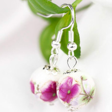 Small Fresh Retro National Wind Ceramic Earrings, Bridal Earrings Wholesale Multicolor Optional(China)