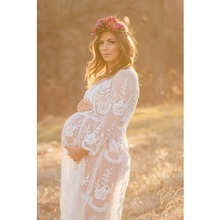 Maternity photography props long dress maxi Maternity gown maternity dresses summer pregnant clothes Large size