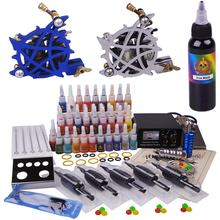 Supplies Professional Tattoo Kits 2 Gun 40 Tattoo Ink Power Supply More Stuff with Tattoo Set Cheap Free Shipping(China)
