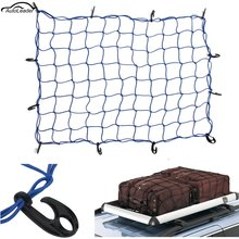 120x90cm 12 Hook Elastic Car Trailer Roof Rack Boot Luggage Bungee Cord Cargo Net Blue