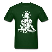 Cheap Sale Cotton T Shirt Short Sleeve Summer O-Neck Mens Buddha Statue Buddhism Tee Shirt