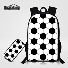 Dispalang 2 PCS/Set Backpack Pencil Case For Boys Footballs Printing Schoolbags Soccers Pattern For Child School Bookbags Rugtas