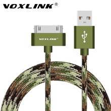 VOXLINK USB Sync Data Charging Charger Cable Cord 30 Pin Metal-plug USB Cable for Apple iPhone 4 4S ipod ipad 2 3 4