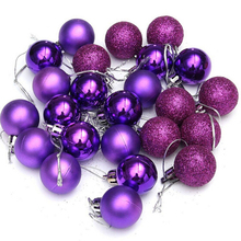 24pcs/ lot Christmas Tree Decor Ball Bauble Hanging Xmas Party Ornament decorations for Home High Quality