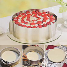 Retractable Bakeware Cake Tools Adjustable Stainless Steel Circle Mousse Ring Baking Dishes PanTool Set Cake Mould Molds Size