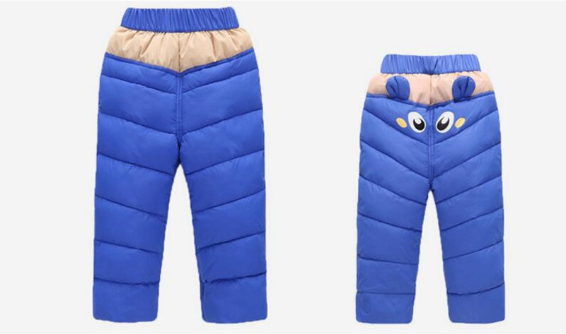 COOTELILI 80-130cm Warm Winter Boys Pants Trousers For Kids Elastic Waist Cotton Thicken Snowsuit Baby Pants Boys Clothes (6)