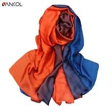 vancol 2017 new arrival gradient long silk scarf spring summer hijab scarf 190cm*110cm brand infinity scarves female scarf women