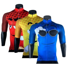 men cycling jersey pro team maillot ciclismo ropa mtb bike jersey cycling clothing cartoon funny jersey yellow red blue