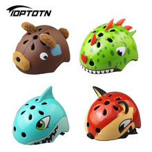 2017 Kids Cycling Helmets Animal Style Child Safety Bike Bicycle Caps Size S 50-54cm Free Shipping Casco Ciclismo Mtb Helmet(China)