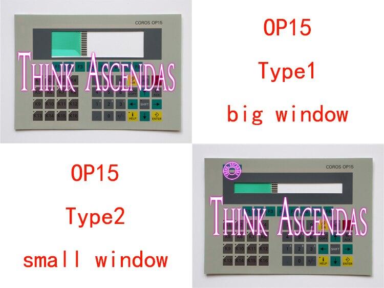 1pcs New OP15 6AV3515-1MA20-1AA0 6AV3 515-1MA20-1AA0 / OP15 6AV3515-1EK30-1AA0 6AV3 515-1EK30-1AA0 Membrane Keypad Type1 Type2<br>