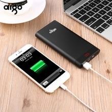 Aigo 10000 mah Power Bank Portable Charger Dual Input Ports Powerbank External Battery iPhone Samsung Xiaomi LED poverbank