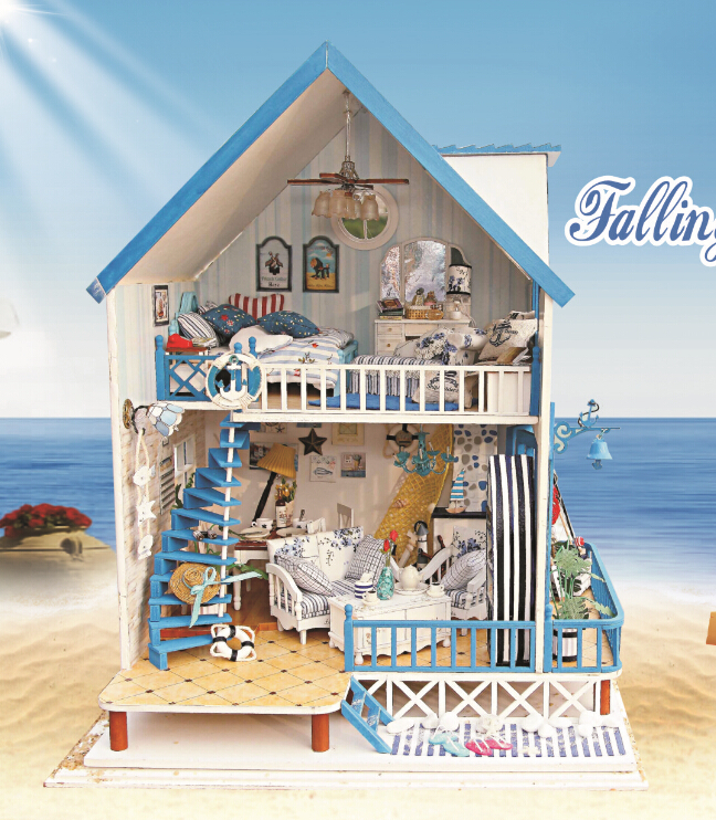 Diy Doll House Model Building Kits Handmade Wooden Dollhouse