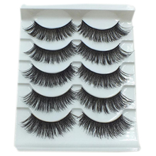 5Pairs Pro Black Long Thick Cross False Eyelashes Smokey Big Fake Eyelashes New Makeup Tools
