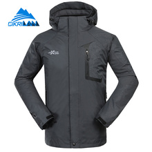 Hot Sale 2017 Windstopper 3 In 1 Winter Jacket Men Camping Doudoune Hiking Veste Homme Warm Chaqueta Hombre With Fleece Lining(China)