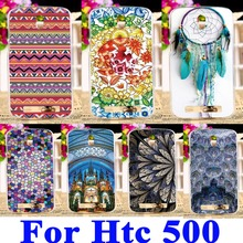 Soft Silicon TPU & Plastic Phone Covers Cases For HTC Desire 500 506E 5088 5060 Cases Dream Catcher Ethnic Shell Hood back cover