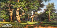 Canvas Prints by Ivan Shishkin landscape oil painting fine art  prints  for living room 13-Gfj- (4) 100x50cm