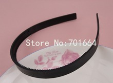 10PCS 12mm Black plain Plastic Hair Headbands with two rows teeth at free shipping,12mm teethed plastic headbands