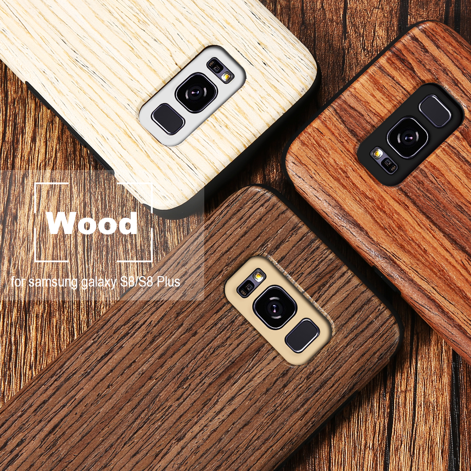 wood pattern soft tpu case for samsung s8 s8 plus (1)
