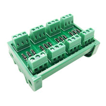 12 Channel diode module DIN Rail Mount 1 Amp 1000V Common Anode 12 Diode Network Module, 1N4007 didoe module.(China)