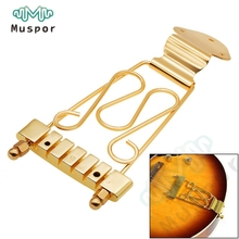 6 String Jazz Archtop Electric Guitar Trapeze Tailpiece with Wired Frame Hollow Semi Hollow - Gold