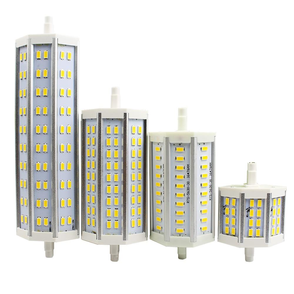 R7S LED Lamp 78mm 118mm 135mm 189mm SMD5730 10W 12W 21W 25W LED R7S Light Bulb LED spotlight Energy Saving Replace Halogen Lamp<br><br>Aliexpress