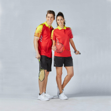 2017 New Quick Dry Men Women Badminton Training Sets Couple Model Breathable Badminton Shirts Clothes Korea Tennis Sportswear XL(China)