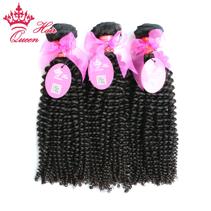 Queen Hair Products Brazilian Kinky Curly Virgin Hair Afro Kinky Curly Unprocessed Human Hair Weave Extension Weft 3pcs/Lot<br><br>Aliexpress
