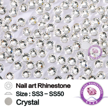 SS3-SS50 High Quality Non Hotfix Glass Material Clear Crystal Rhinestones For Nail Art