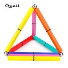 Quaii Магнитная снять стресс ручка красочные пальца ручка Магнитная Магия окрашены ручка Творческий Полярный конденсатор магнит пера plumas(China)
