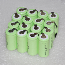 Stock Clearance 16PCS UNITEK 1.2V rechargeable battery 2000mah Sub C SC ni-mh nimh cell with pins for power drill,vacuum cleaner