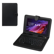 Fashion design Universal Leather Case with Micro USB Keyboard For 9inch Tablet PC Nexus 9 Onfine Leo(China)