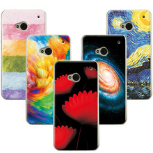 For HTC One m7 802t 802w/ 802d Dual Sim Case Cover Flowers Scenery Hard PC Phone Cases For HTC One M7 802W Back Cover