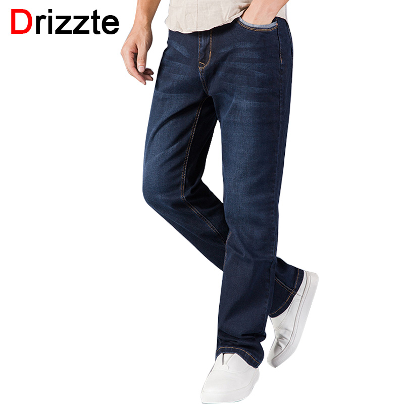 Drizzte Brand Mens Jeans Relax Loose Causal Straight Stretch Denim Jeans Size 30 32 34 36 38 40 42 44 for Autumn JeansÎäåæäà è àêñåññóàðû<br><br>