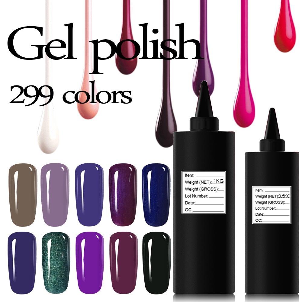 Blue Velvet Soak Off Varnish 500g UV LED Gel Nail Polish Long Lasting Gel Manicure Lacquer Top Base Coat Primer Foundation <br>