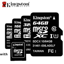 Original Kingston Class10 8GB 16GB 32GB 64GB Micro SD Card 64 GB 32 GB 16 GB 8 GB TF Flash Memory Card Microsd with Card Adapter