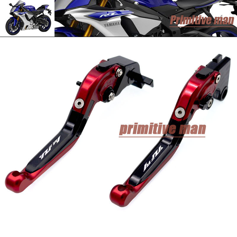 For YAMAHA YZF R1 YZFR1 YZF-R1 2009-2014  Folding Extendable Brake Clutch Levers LOGO YZF R1 YZFR1 YZF-R1 #B<br>