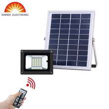10W 20LEDs Outdoor Solar Light for Billboard Football Field Park Garage Emergency IR Remote Control SMD Solar Flood Light(China)