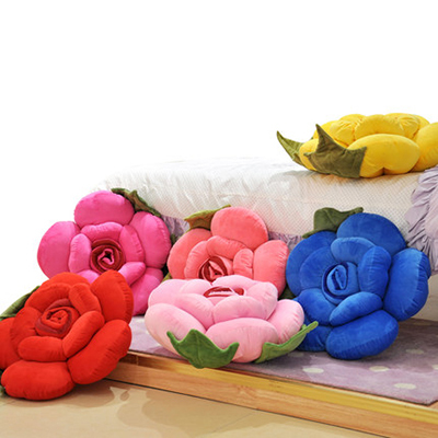 5 color choice stuffed toy 1 pc 50cm kawaii plush stuffed flower toy rose pillow sofa cushion decoration birthday wedding gift<br><br>Aliexpress
