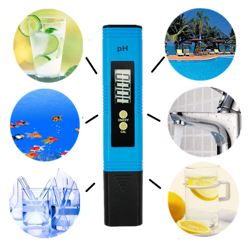 100pcs LCD Digital PH Meter Tester accuracy 0.01 Aquarium Pool Water Wine Urine automatic calibration with retail box 35% off 8