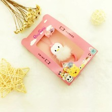 Cute cartoon silicone mink mobile phone lanyard finger buckle Short section