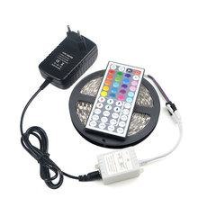 RGB 5050 5M 300LEDs LED Strip Light Lamp Ribbon Tape 20 Static Colors Reoter 3A Power Adapter For Holiday Club Bar Party Decor(China)