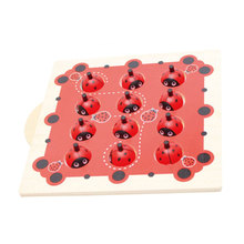 Wooden Building Block Montessori Memory Ladybug Shape Toys For Kids Children(China)