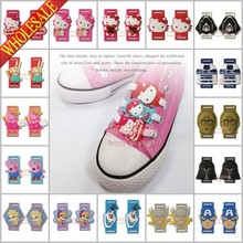 3pairs/set Mixed Star Wars Hello Kitty Avengers F rozen Cartoon Shoelace Buckles Shoe Lace Inserts Shoe Accessories/Decoration