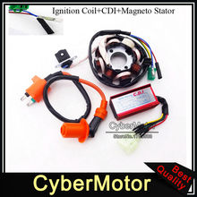 Magneto Stator Ignition Coil 6 Pins Wires AC CDI Box For Chinese GY6 125cc 150cc ATV Go Kart Moped Scooter(China)