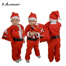 Meetcute Boy's Funny Santa Claus Cosplay Non-woven Fabric Costume Kits 5pcs/ Lot Suit Kid's Christmas Gift!