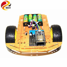 Buy DOIT 2WD Smart Car Robot Chassis NodeMCU+Motor Shield Board L293D ESP-12E based ESP8266 DIY RC Toy WiFi Smart Car for $27.62 in AliExpress store