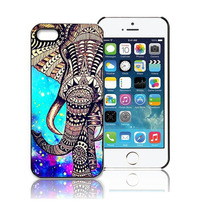 Highly Recommend Elephant Star Pattern Skin Case Cover For iPhone 5 5S 5G Resists dirt and stains Plastic PHONE CASE(China)